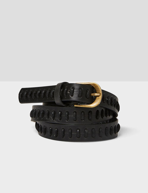 Black belt with lacing detail