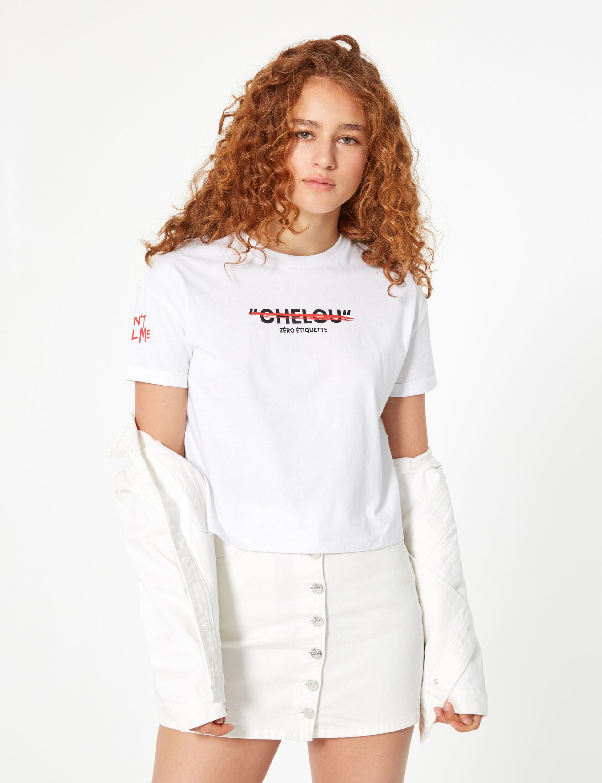 'Don't call me chelou' ('don't call me strange') T-shirt