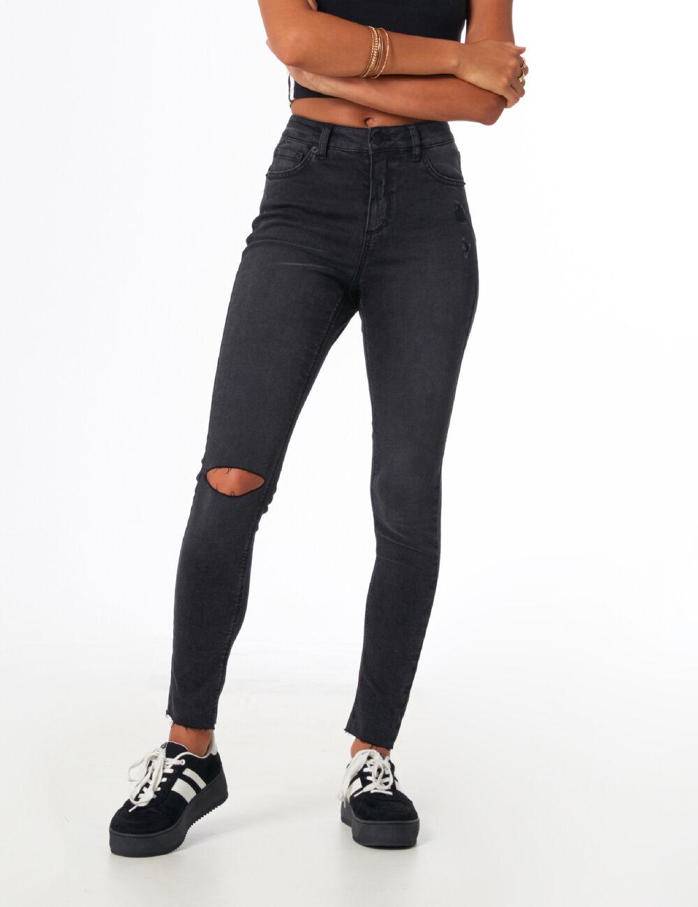 Jean Noir Taille Haute Femme : jean taille haute noir femme jennyfer ~ Pogadajmy.info Styles, Décorations et Voitures
