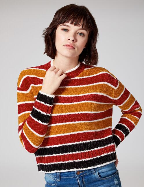 Red striped chenille jumper