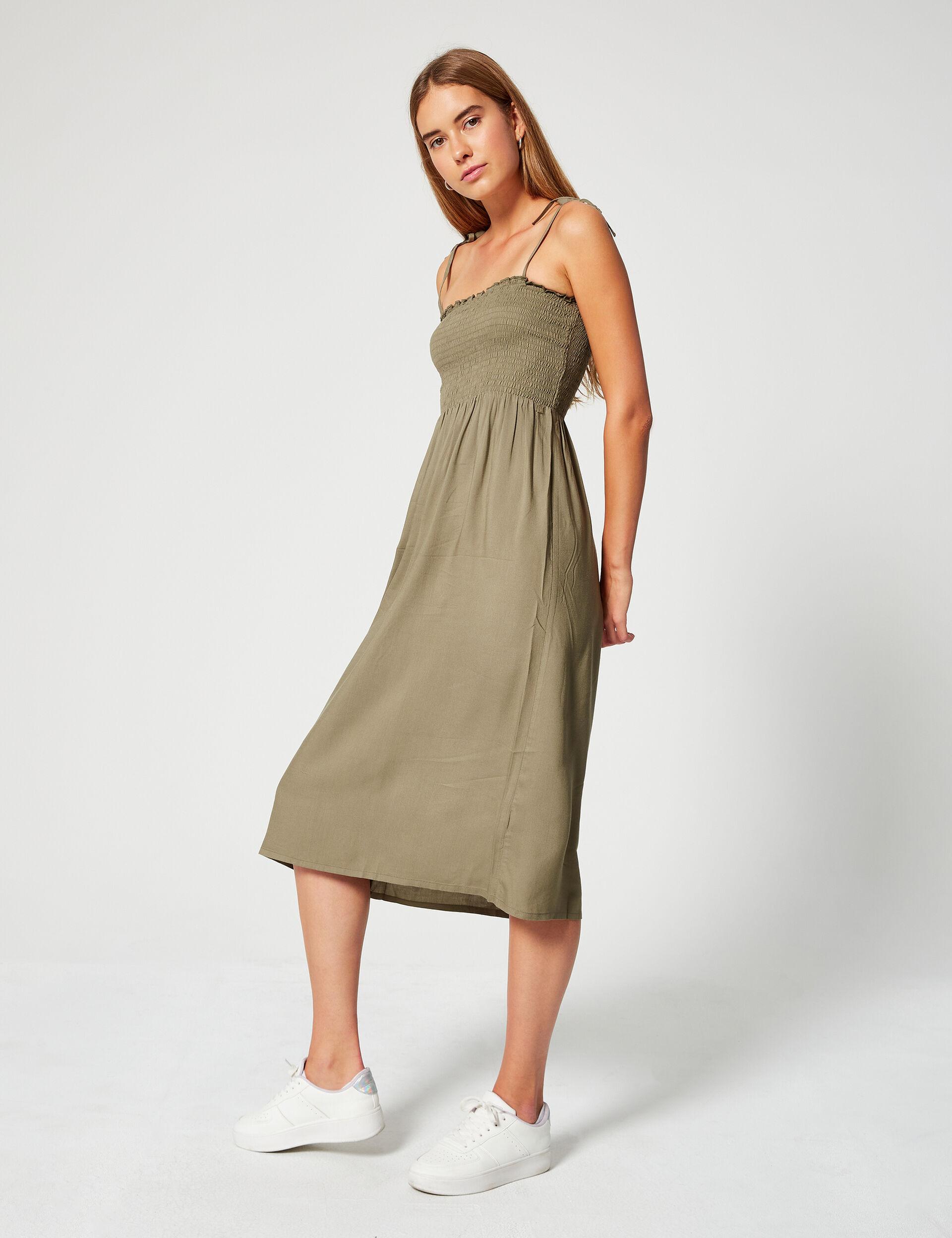 Smocked floaty dress