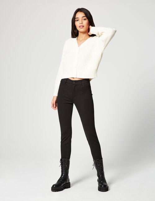 Pantalon taille haute ajusté