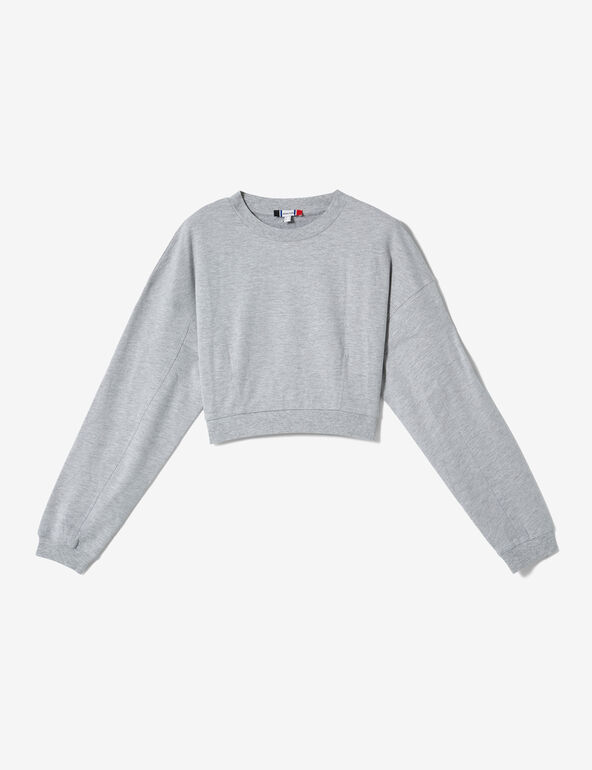 Cropped grey marl sweatshirt