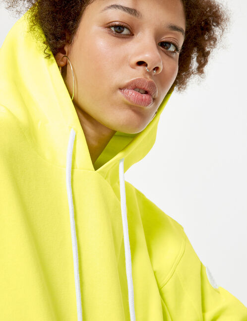 Cropped neon yellow hoodie