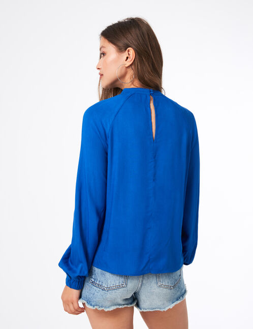 Blue blouse with open detail