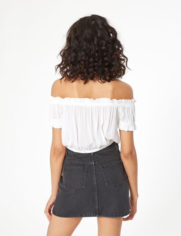 Loose-fit off-the-shoulder top