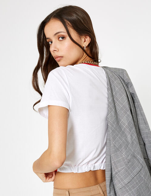tee-shirt new york paris tokyo rouge
