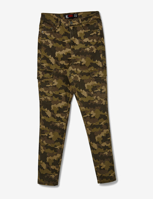 Khaki camouflage trousers