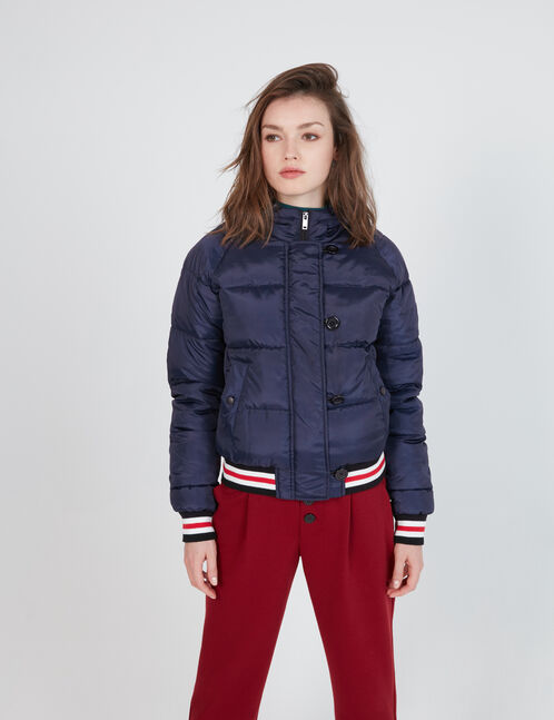 Navy blue padded jacket