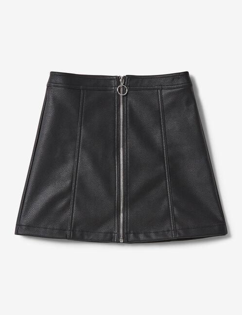 Black zipped detail skirt