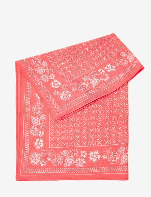 Coral floral bandana