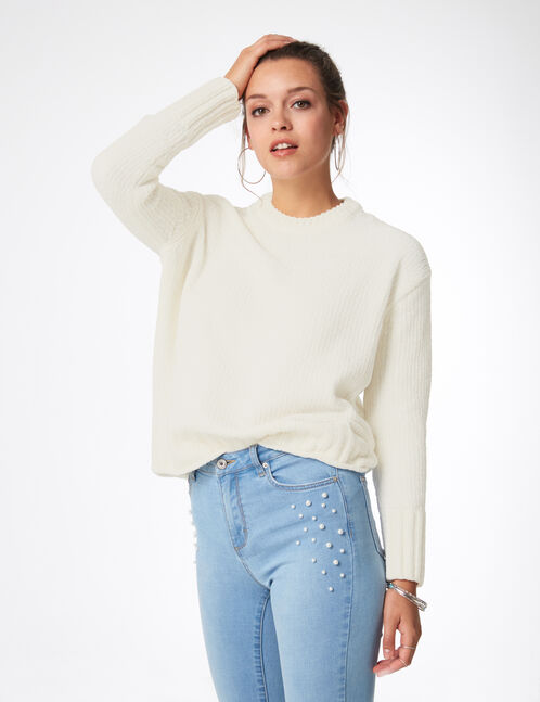 White chenille jumper