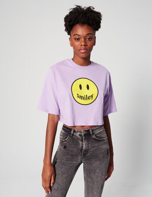 Tee-shirt court Smiley