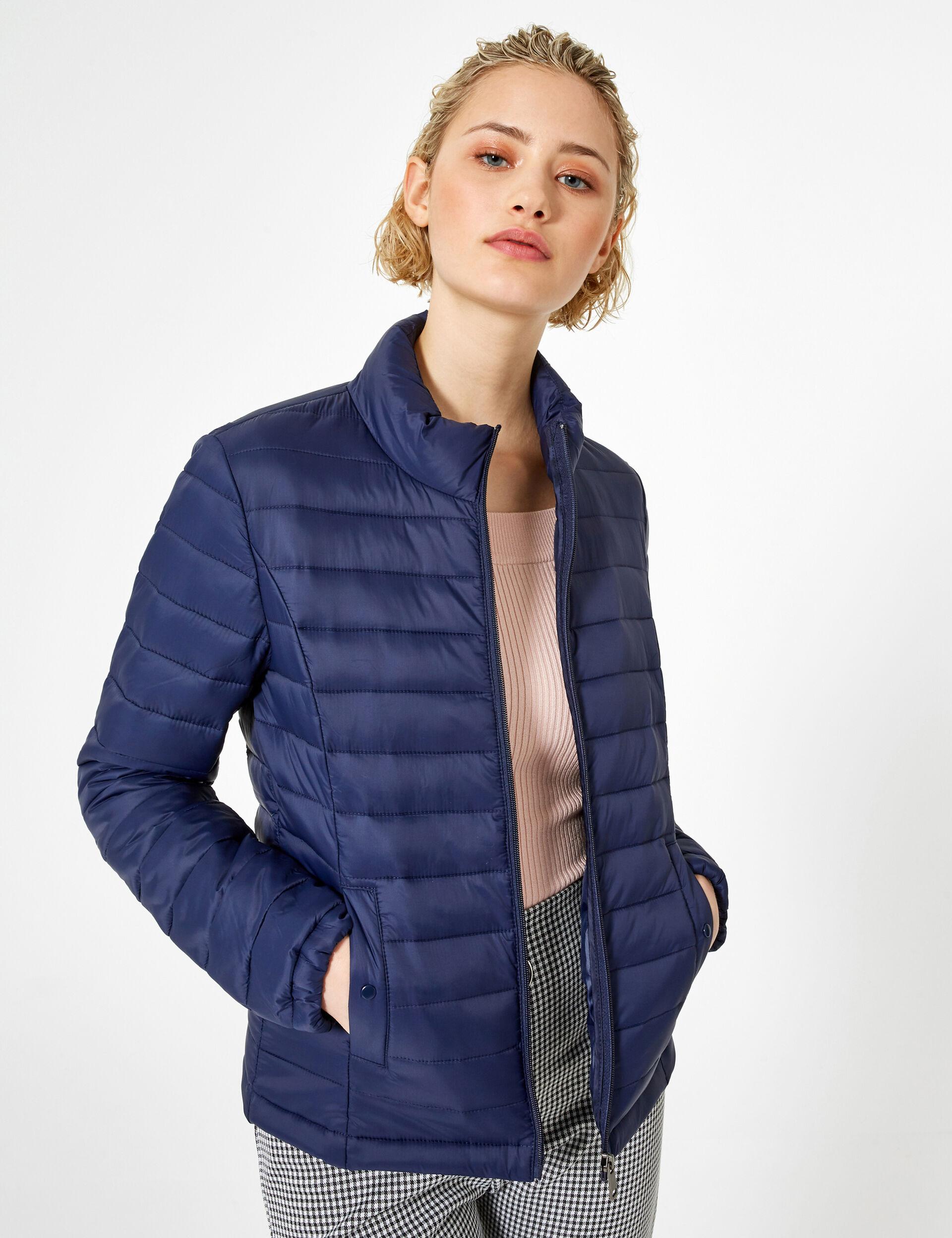 Navy blue lightweight padded jacket