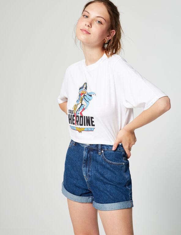 Tee-shirt court Wonder Woman