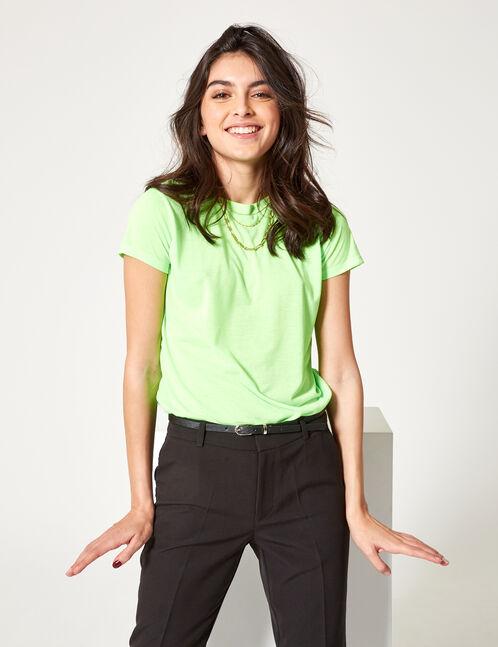 tee-shirt basic vert fluo