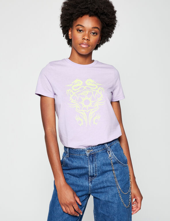 Loose fit patterned T-shirt
