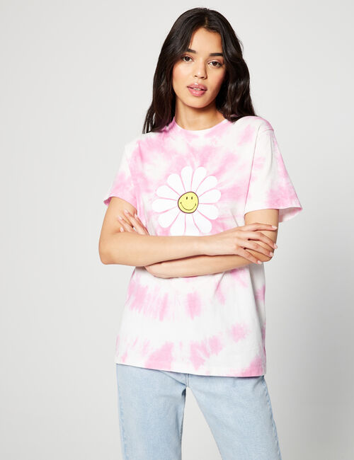 Tee-shirt Smiley tie and dye