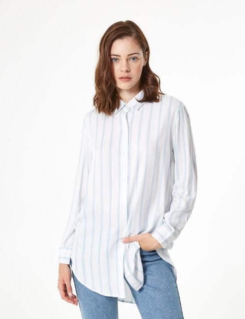 chemise fluide rayée