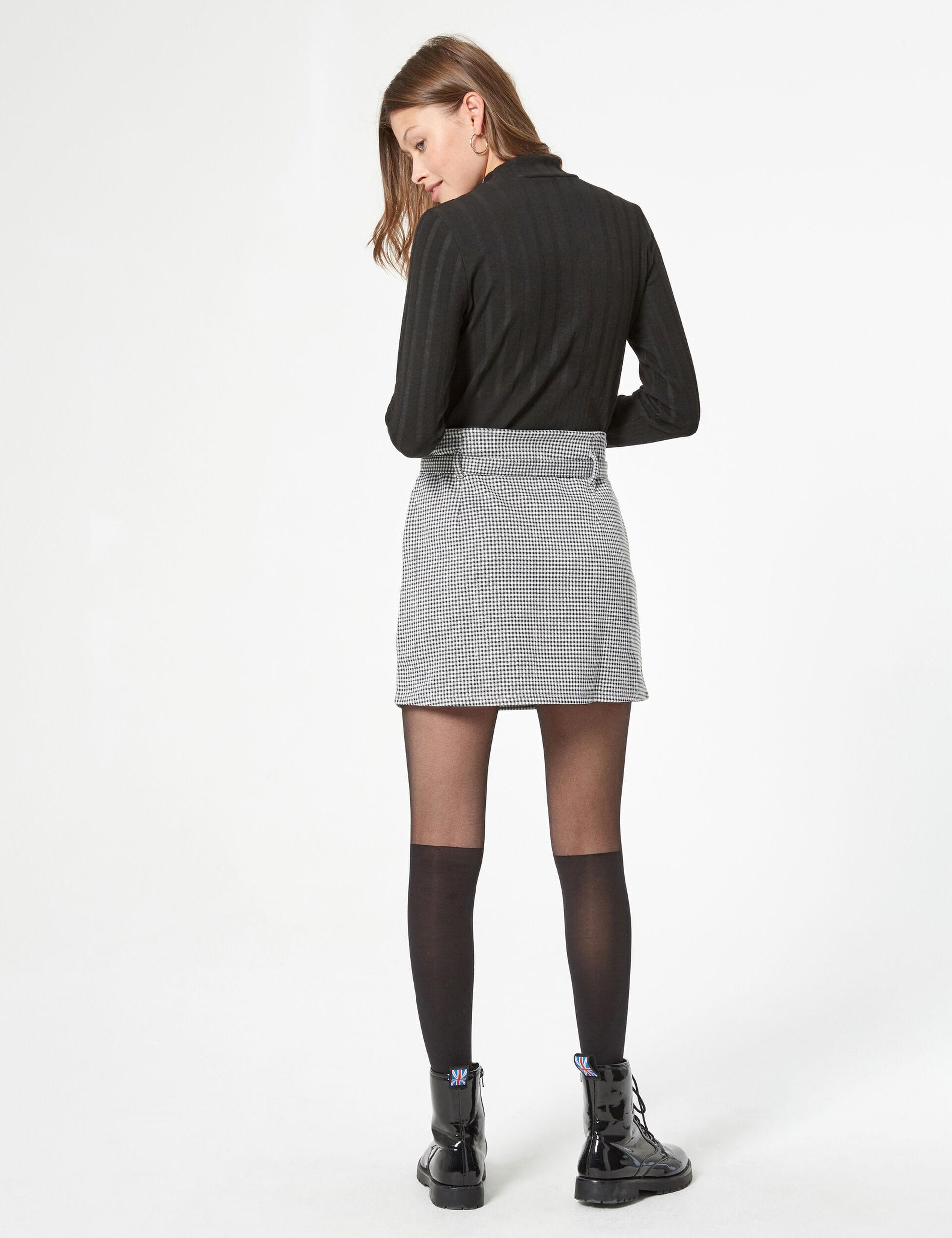 Mini jupe pied-de-poule