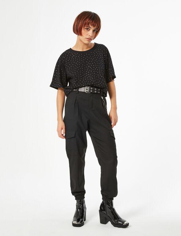 Tee-shirt court strass