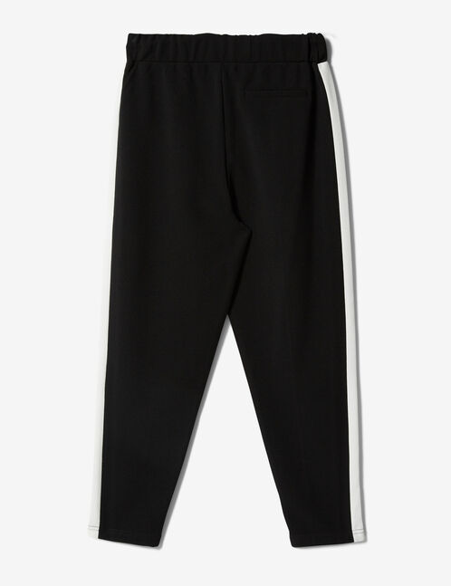 Black joggers with side trim detail