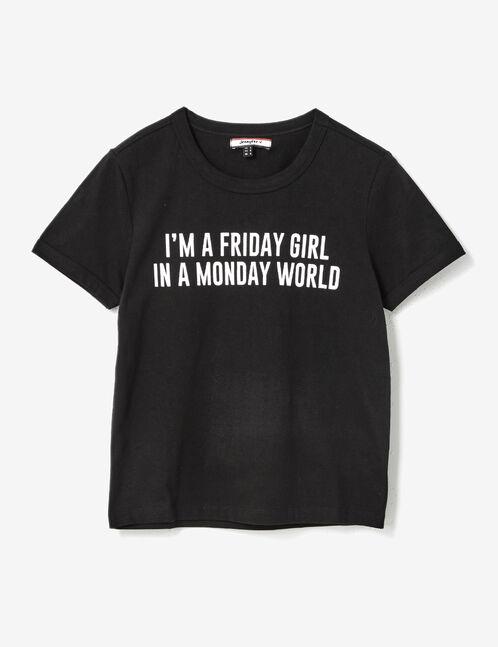 tee-shirt à message noir