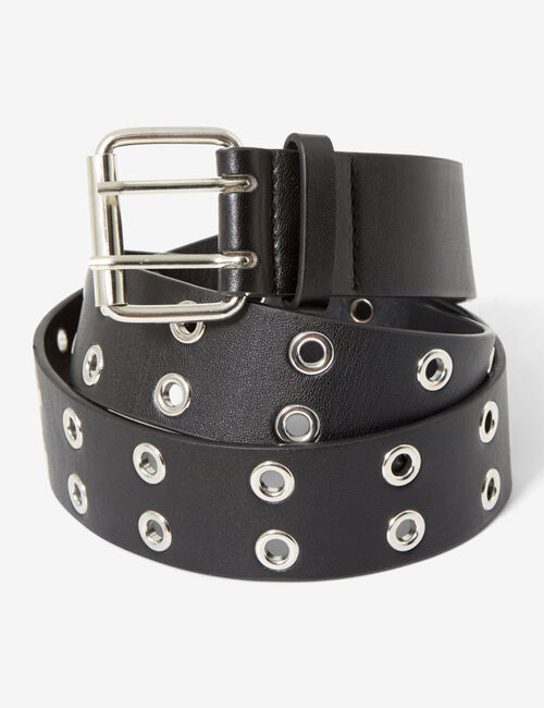 Belt with double eyelets