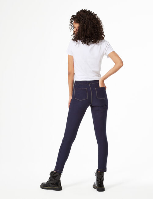 High-waisted jeggings