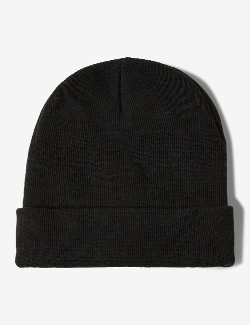 Black beanie with eye detail