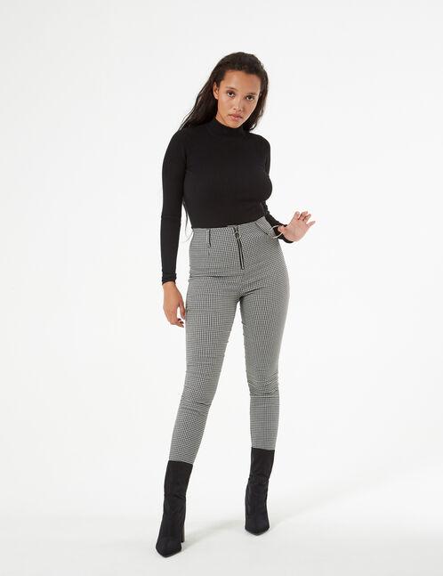 gingham pants with loop
