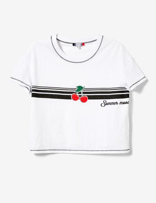White cherry T-shirt