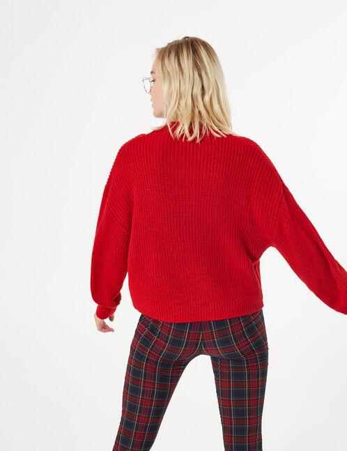 Woven knit jumper