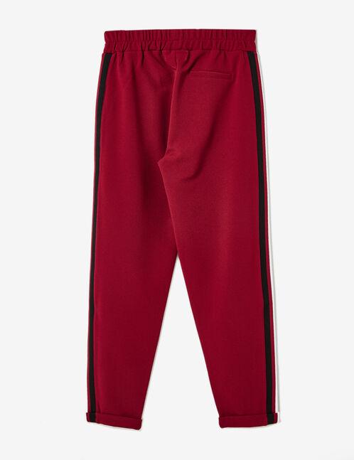 pantalon rayures côtés bordeaux