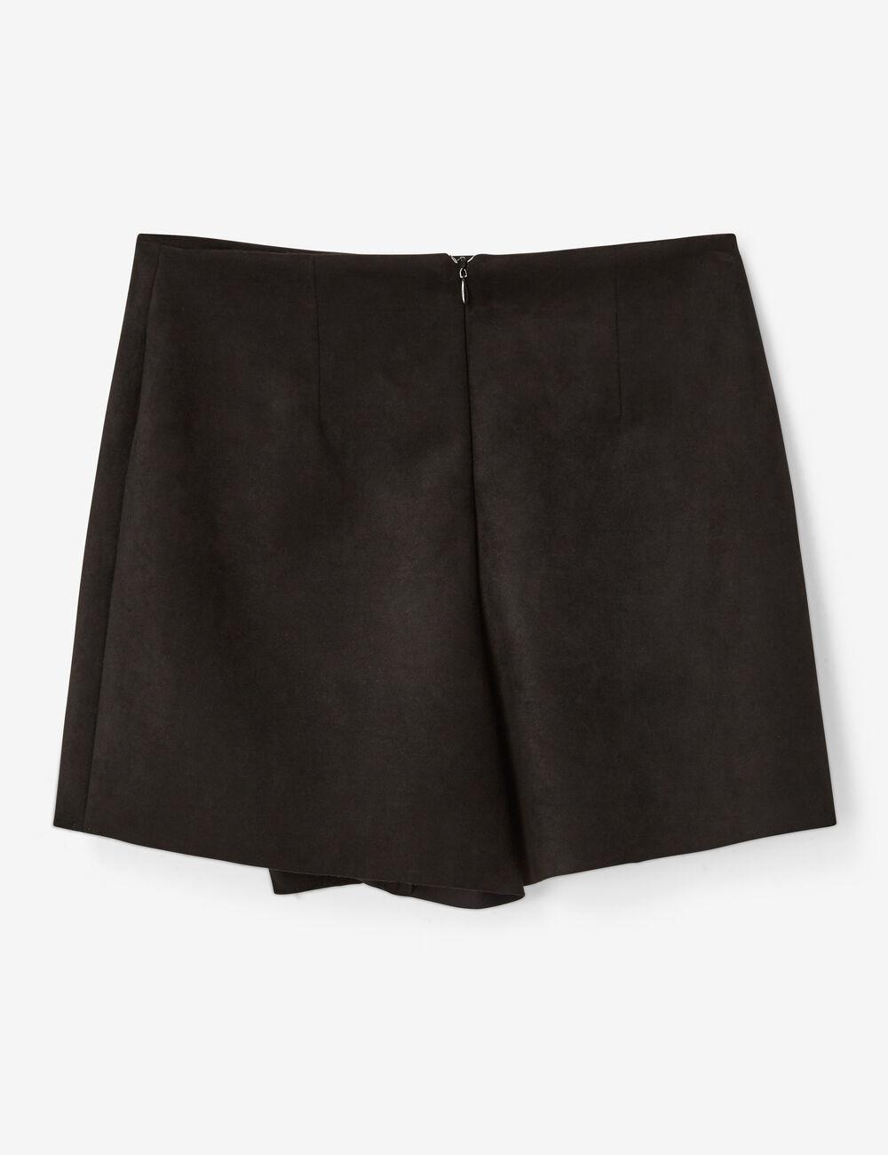 Jupe short en suédine noire femme • Jennyfer 93987a2fbf7