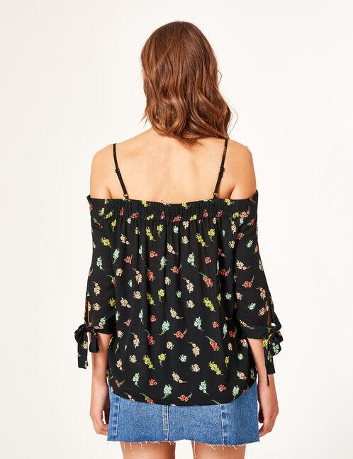 Black off-the-shoulder blouse