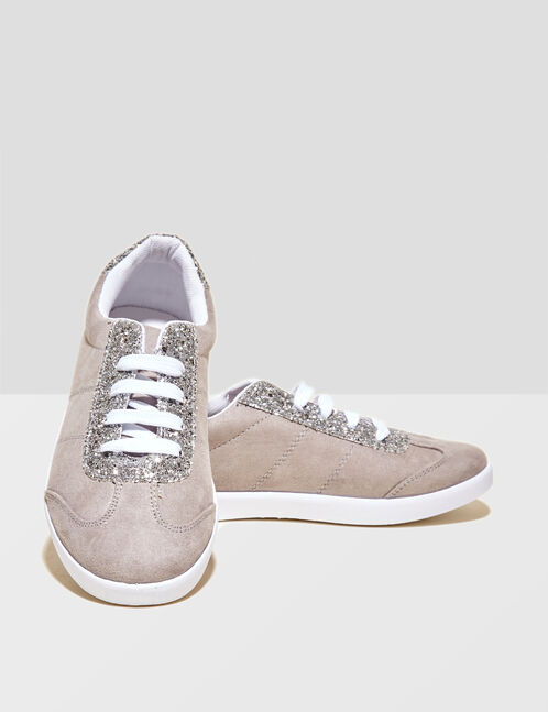 Light grey sparkly trainers