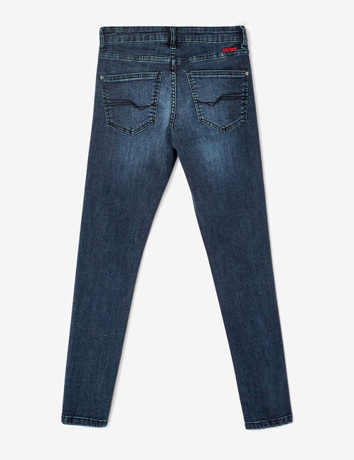 Dark blue-low rise skinny jeans