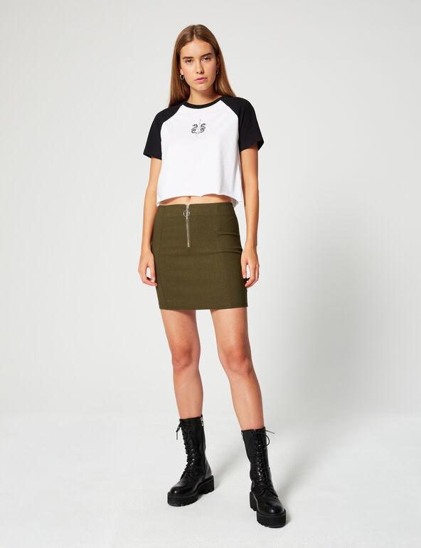 Zip-up miniskirt