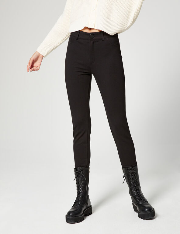 Fitted high-waisted trousers