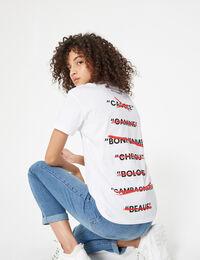 Jennyfer tee-shirt don't call me blanc