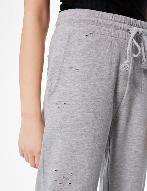 Distressed basic jogging bottoms