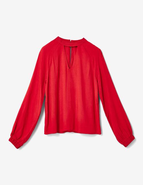 blouse avec ouverture rouge