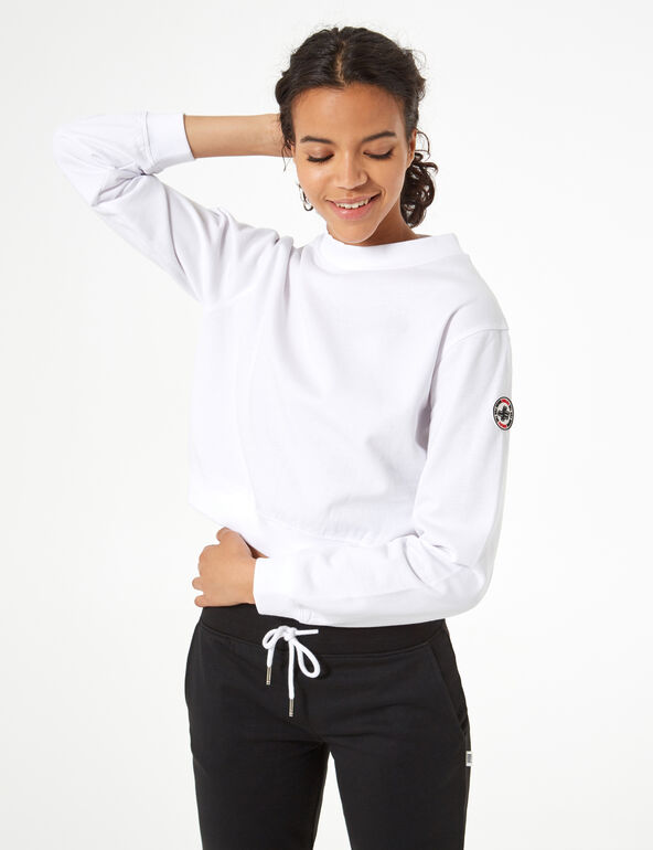 Sweat basic col montant