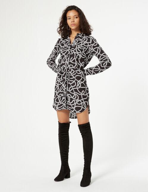 cord print dress