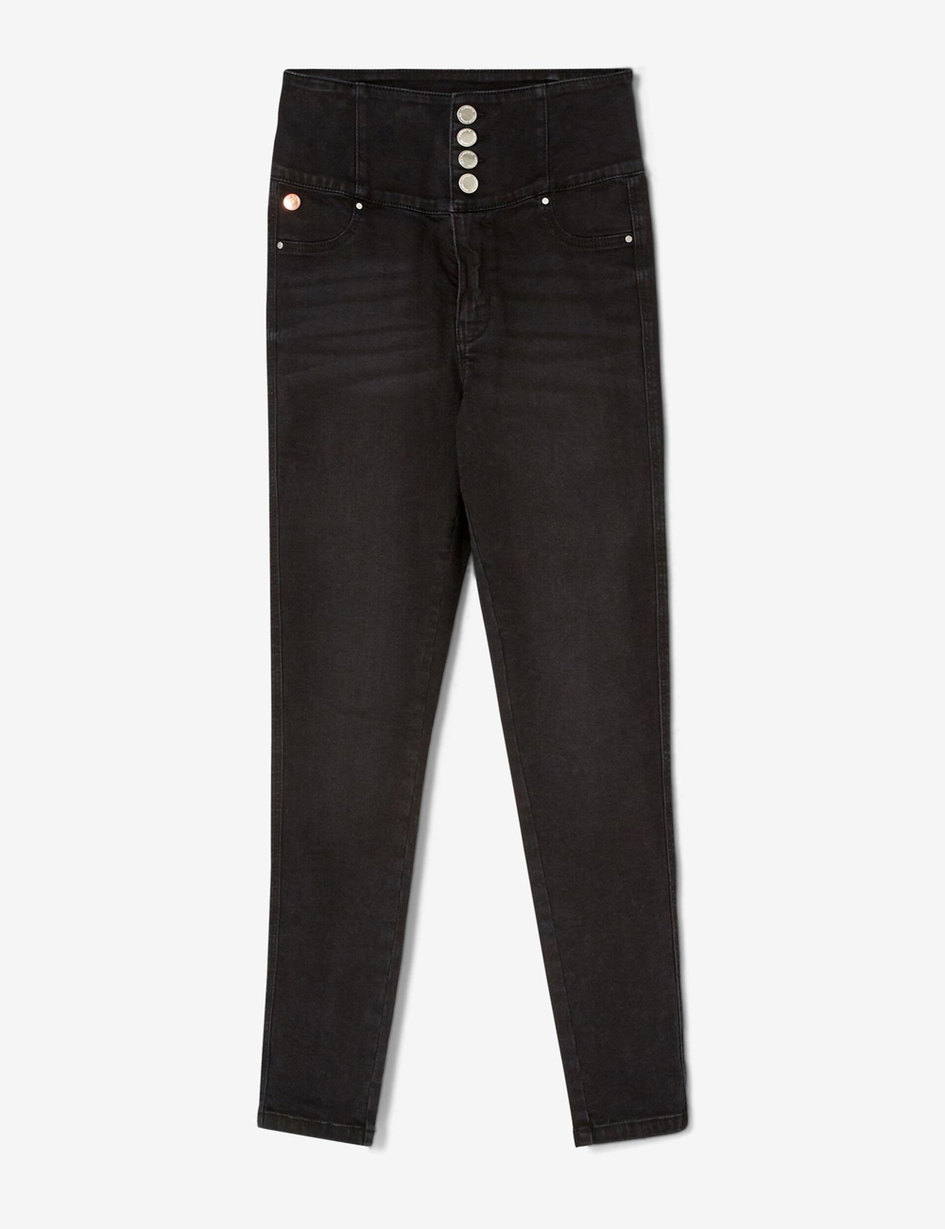 Jean super taille haute noir