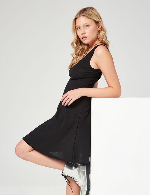 Ribbed skater dress
