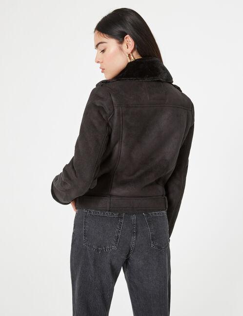 faux-suede jacket