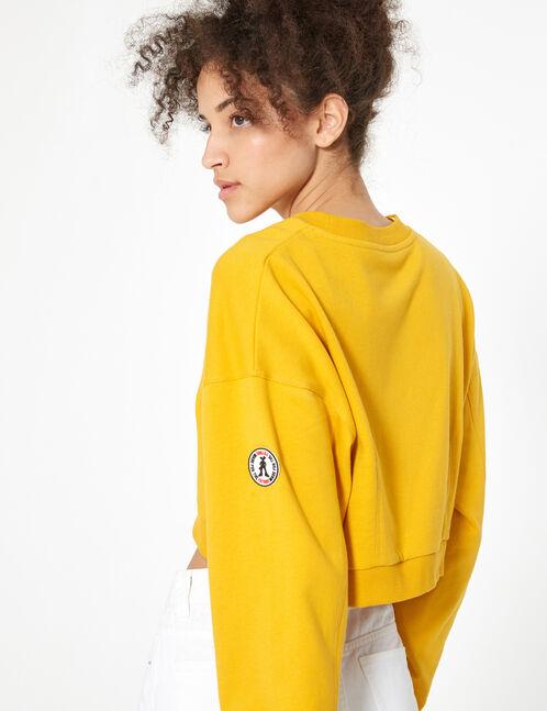 Cropped ochre sweatshirt