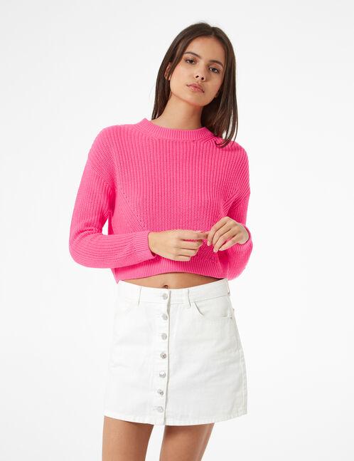 Basic neon pink jumper